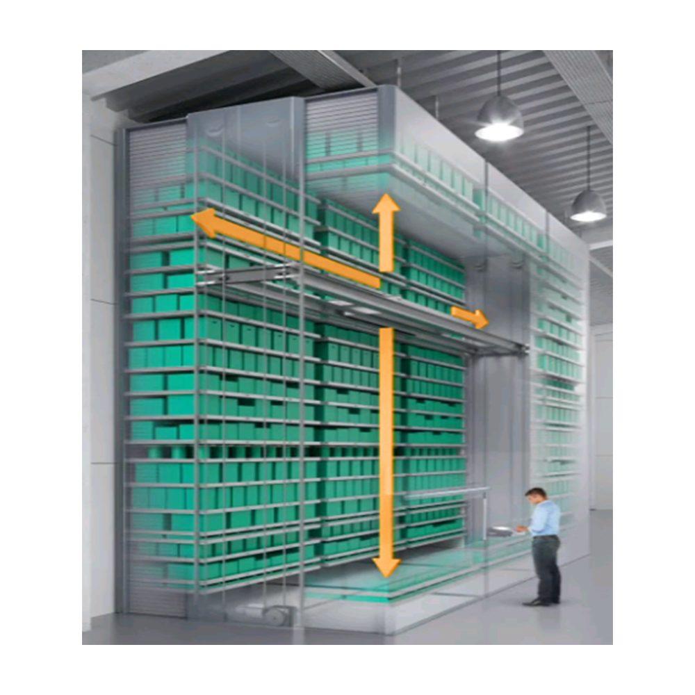 автоматические стеллажи лифтового типа хранения